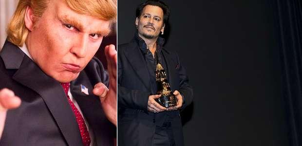 Johnny Depp se transforma en Donald Trump