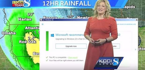 La actualización de Windows 10 se cuela en una emisión de TV