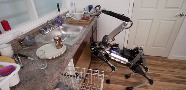 Crean el perro-robot que limpia tu casa (VIDEO)