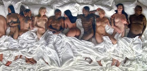 Kanye West desnuda a 12 famosos para lanzar su videoclip