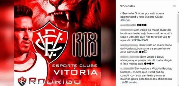Novo reforço do Vitória, Ramallo comemora acerto em rede ...