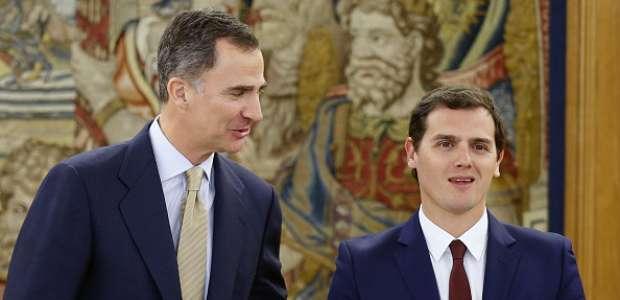 Rivera plantea al rey un Gobierno de consenso sin Rajoy