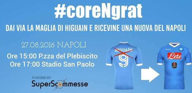 """La campaña """"anti-Higuaín"""" en el Napoli: """"Chau Pipita"""""""