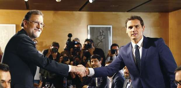 Así es el acuerdo de Rajoy y Rivera para la investidura