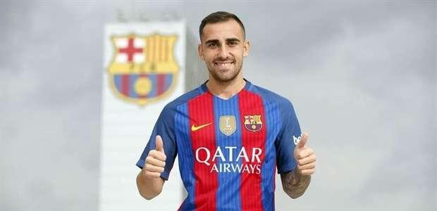 El delantero Paco Alcácer, nuevo jugador del Barça
