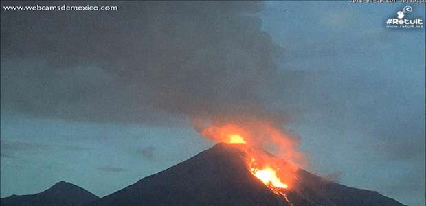 A dramática erupção de um vulcão no México em 60 segundos