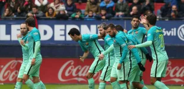 Barcelona vence Osasuna após três jogos no Espanhol