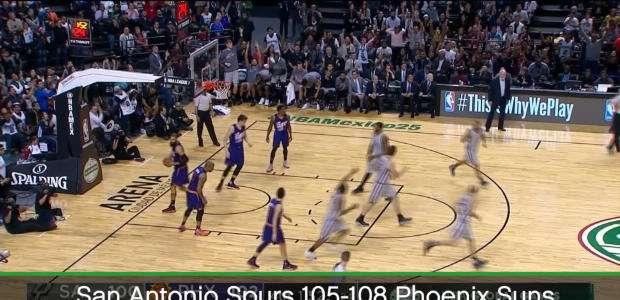 BASQUETE: NBA: Suns brilha no México e vence Spurs