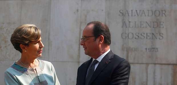 Hollande realiza homenaje a ex presidente Salvador Allende