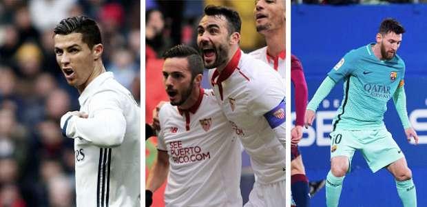La Liga es cosa de tres: Real Madrid, Barcelona y Sevilla