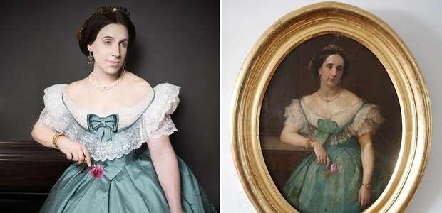 Artista vira modelo em retratos de ancestrais de 5 gerações