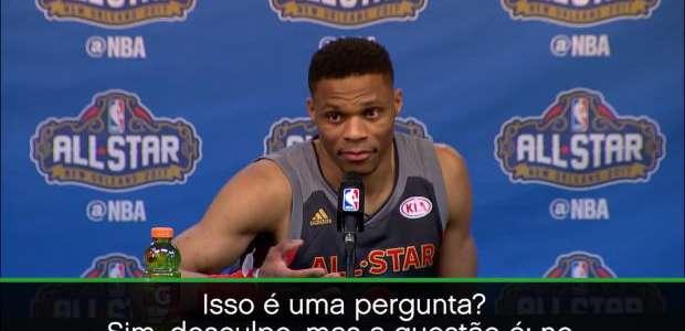 Westbrook ignora pergunta sobre Durant