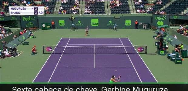 WTA Miami: G.Muguruza vence S.Zhang (4-6, 6-2, 6-2)