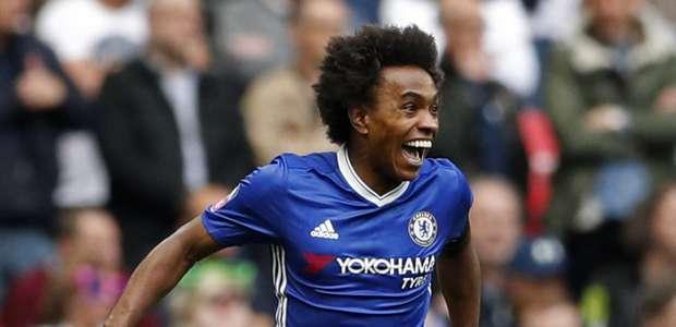 A pedido de Mourinho, United pode tirar Willian do Chelsea