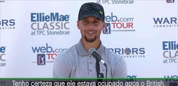 Curry felicita Spieth por vitória no Open