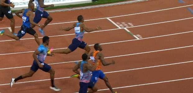 Ujah vence os 100m e Gatlin fica em quarto
