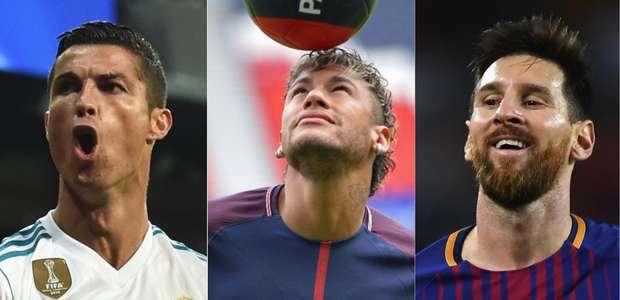 Neymar disputa Bola de Ouro contra Cristiano Ronaldo e Messi