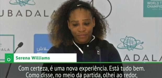 """Serena, de volta às quadras: """"No meio do jogo, ..."""