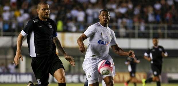 Com gol mal anulado, Santos perde do Bragantino