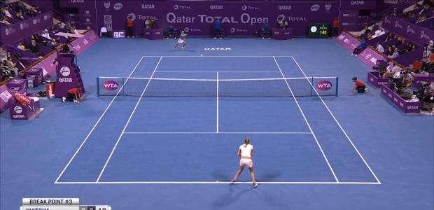 WTA Qatar: Kvitova vence Muguruza na final (3-6, 6-3, 6-4)