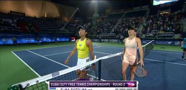 WTA Dubai: Svitolina vence Wang (6-1, 5-7, 6-2)