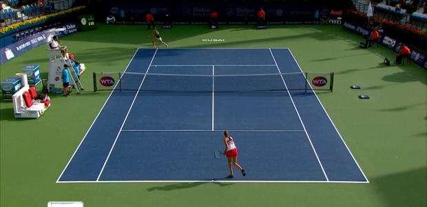 O lance sensacional de Kerber contra Pliskova
