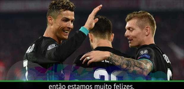 """Casemiro após vitória sobre o Bayern: """"Felizes mas o ..."""