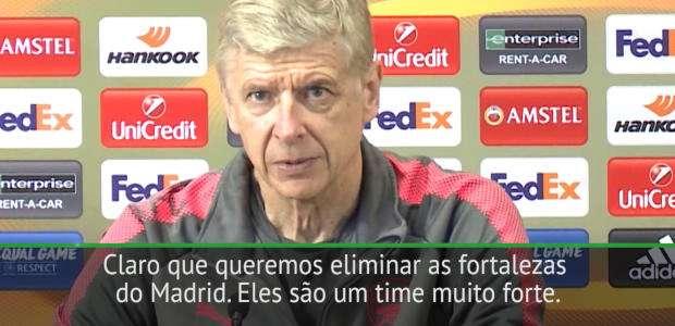"""Liga Europeia: Wenger: """"O jogo de hoje contra o Atlético ..."""