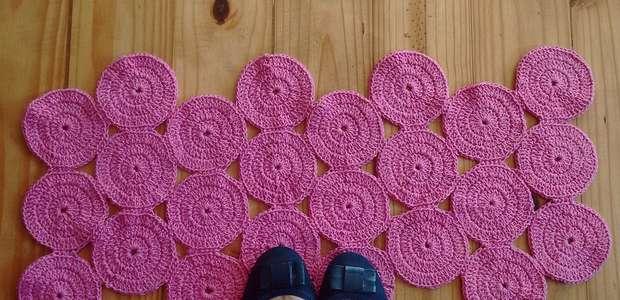 Tapetes de Crochê em um Passo a Passo Fácil