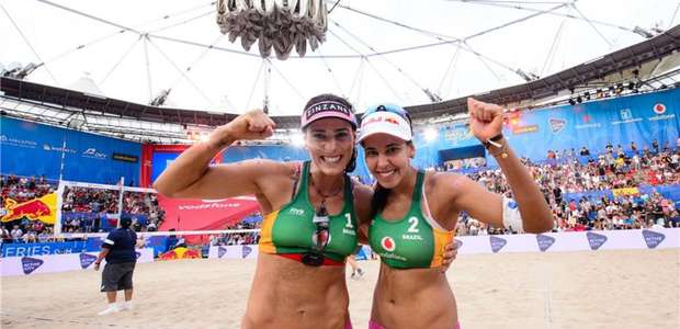 Brasil garante dupla feminina do vôlei de praia na ...