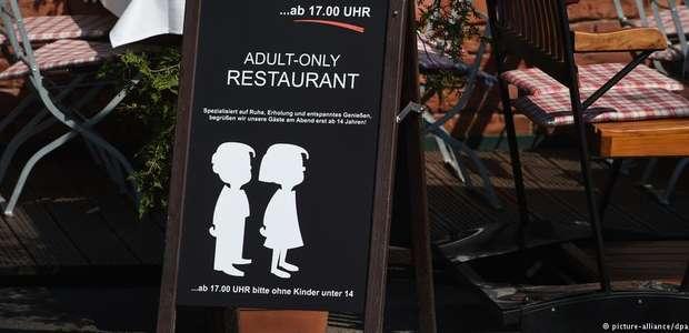 Restaurante alemão proíbe entrada de crianças