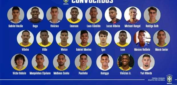 Com Paulinho, Vinicius Jr e Rodrygo, Seleção Sub-20 é ...