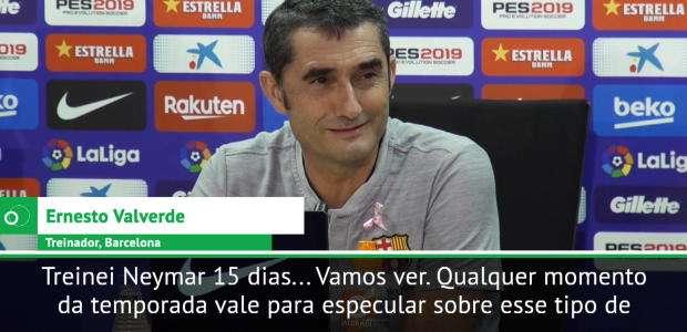 """BARCELONA: Neymar voltará ao clube? Valverde: """"No ..."""