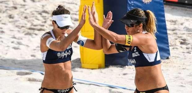 Maria Elisa e Carol Solberg ganham bronze na etapa de ...