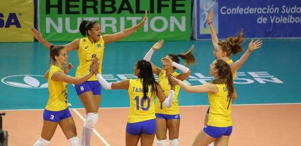 Com vaga no Mundial, seleção sub-20 feminina de vôlei ...