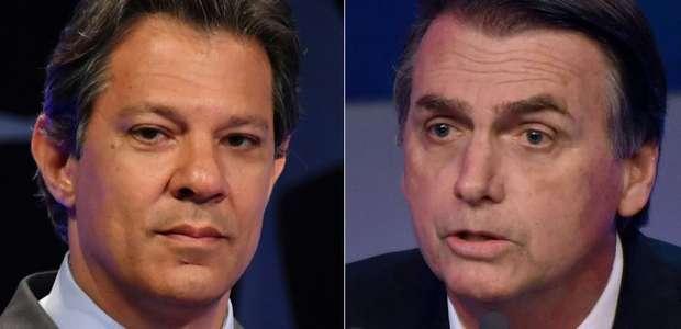 Bolsonaro tem 56% e Haddad, 44%, diz pesquisa