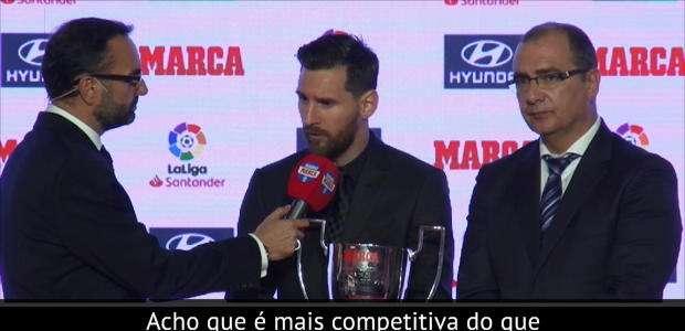 Messi venceu os troféus de La Liga de Melhor Jogador e ...