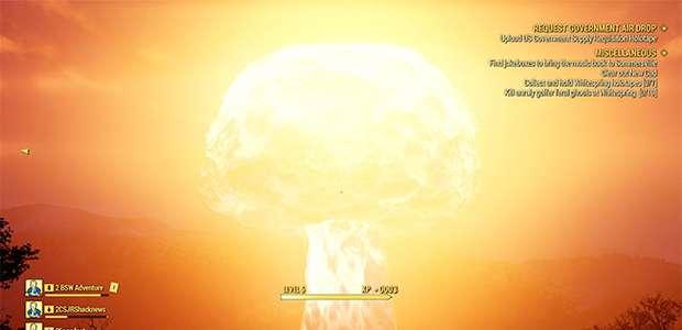 Explosão nuclear virtual trava Fallout 76 no mundo inteiro
