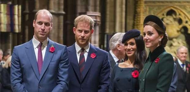 Grupo da família (real)! Meghan, Harry, Kate e William ...
