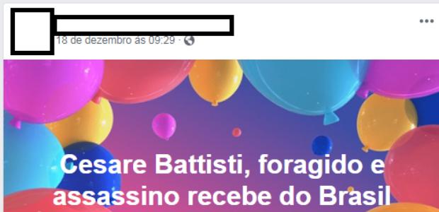 #Verificamos: Battisti não recebe pensão do governo