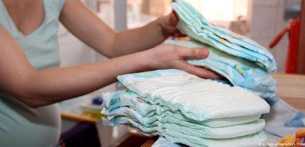 Estudo detecta substâncias potencialmente tóxicas em fraldas