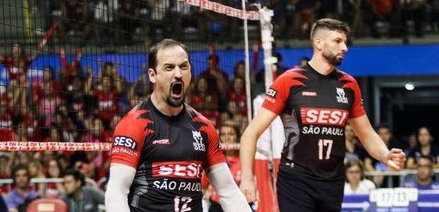 Sesi supera Taubaté e leva decisão da Superliga para 5º jogo