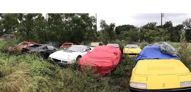 Coleção abandonada de Ferraris poderá ser vendida