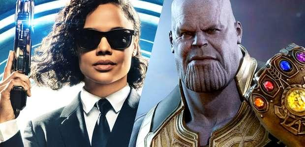 Tessa Thompson diz que Homens de Preto venceriam Thanos ...