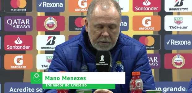 """CRUZEIRO: Mano após empate: """"Erramos muito no primeiro ..."""
