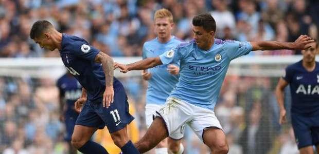 Jesus tem gol anulado no fim e City empata com o Tottenham