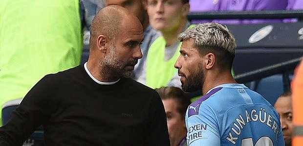 Guardiola explica discussão com Aguero
