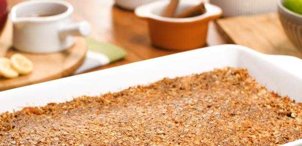 Torta de maçã crocante fit