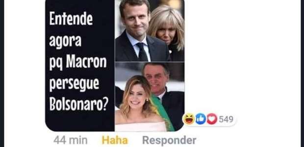 No Facebook, perfil de Bolsonaro ri de ofensa à ...