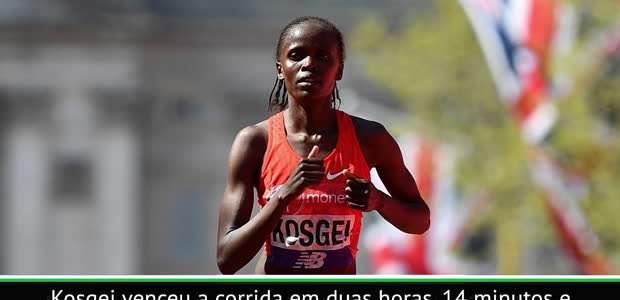 ATLETISMO: Brigid Kosgei quebra o recorde mundial na ...